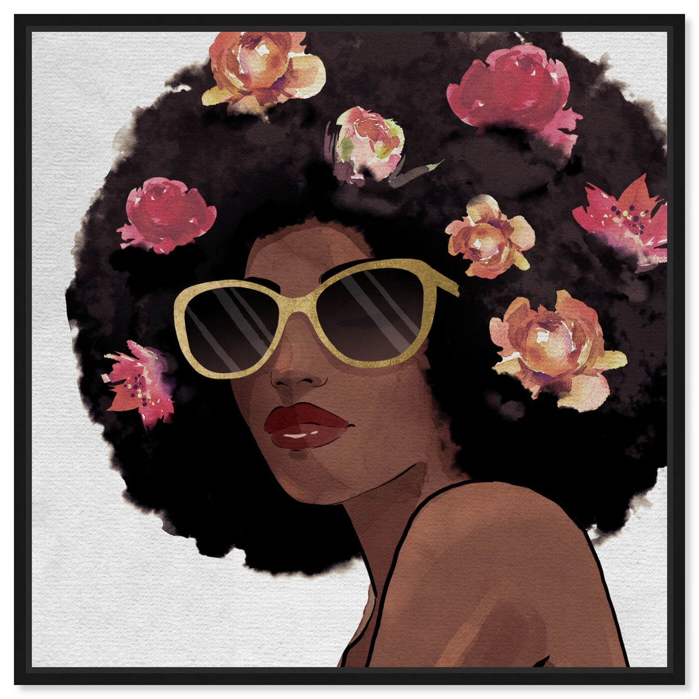Front view of Flowers to Inspire Shades featuring fashion and glam and portraits art.