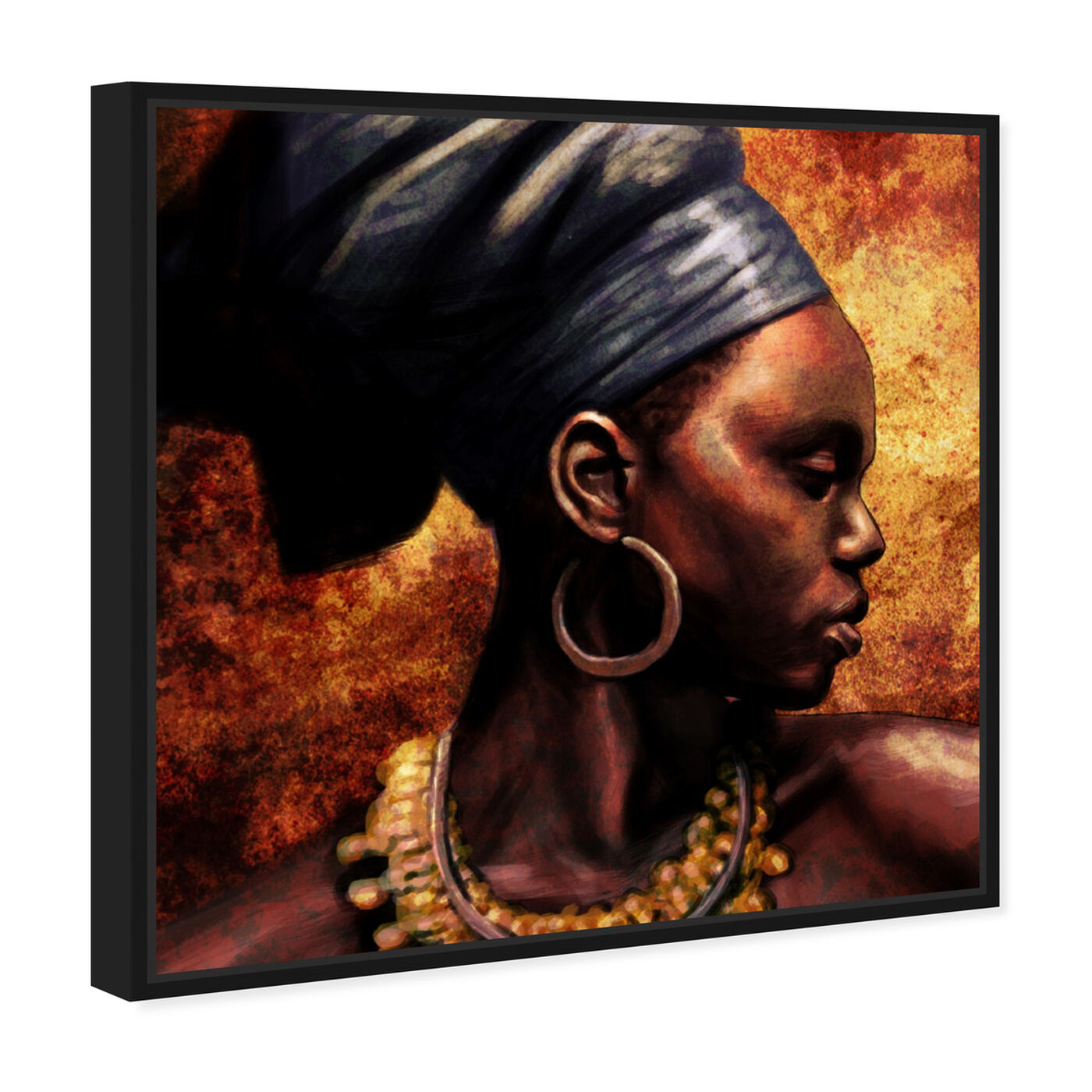 Angled view of Ashanti featuring people and portraits and portraits art.