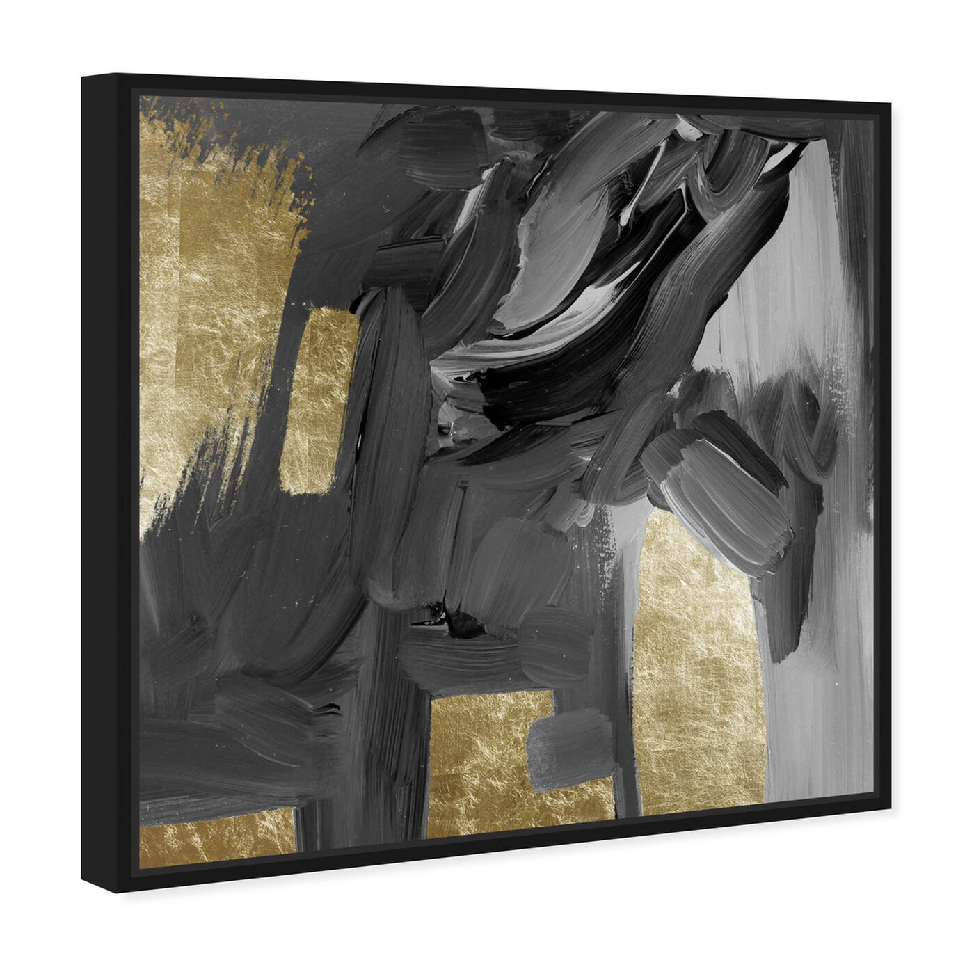 Angled view of Mighty Gold featuring abstract and paint art.