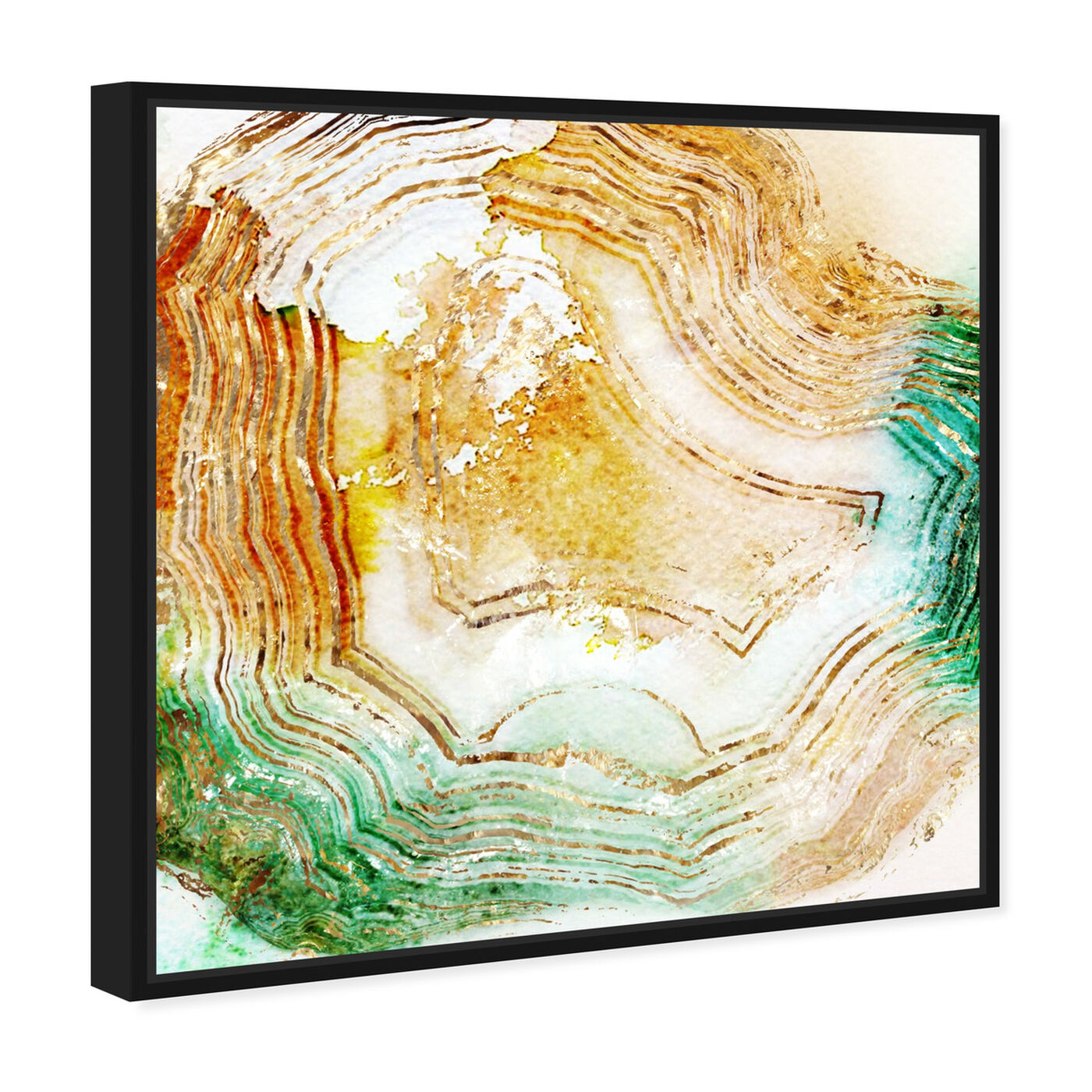 Angled view of Butter Agate - Signature Collection featuring abstract and crystals art.