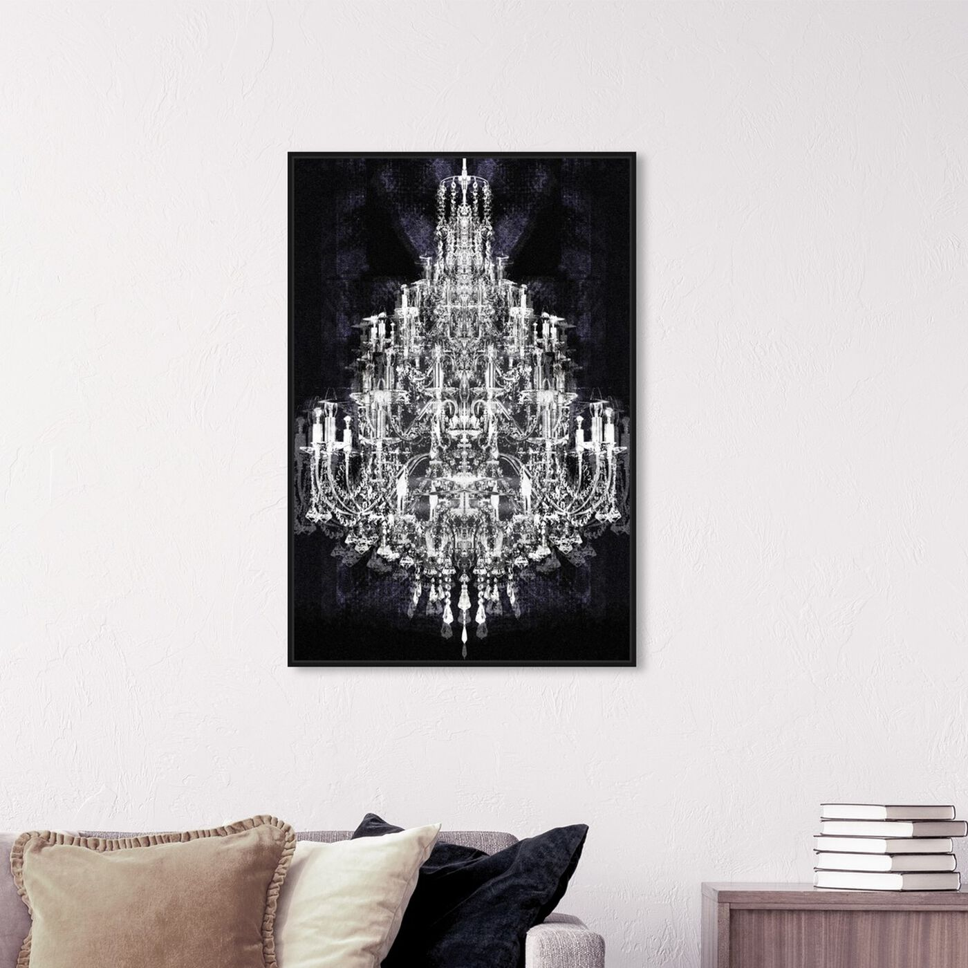 Hanging view of Montecarlo Crystal featuring fashion and glam and chandeliers art.