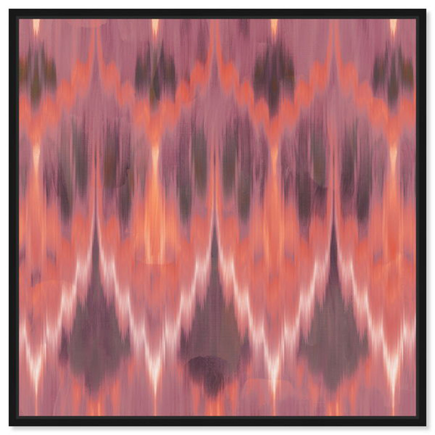 Front view of Coral Ikat featuring abstract and patterns art.