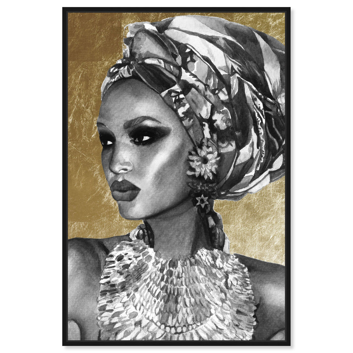 Front view of Goddess of Nile featuring fashion and glam and portraits art.