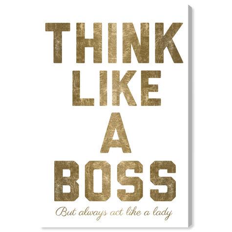 Like A Boss Gold Metallic