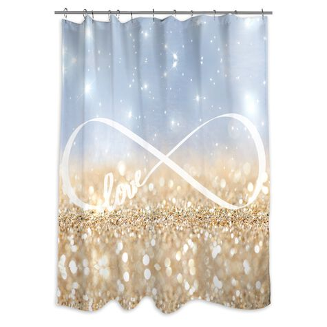 Infinite Love Sign Shower Curtain
