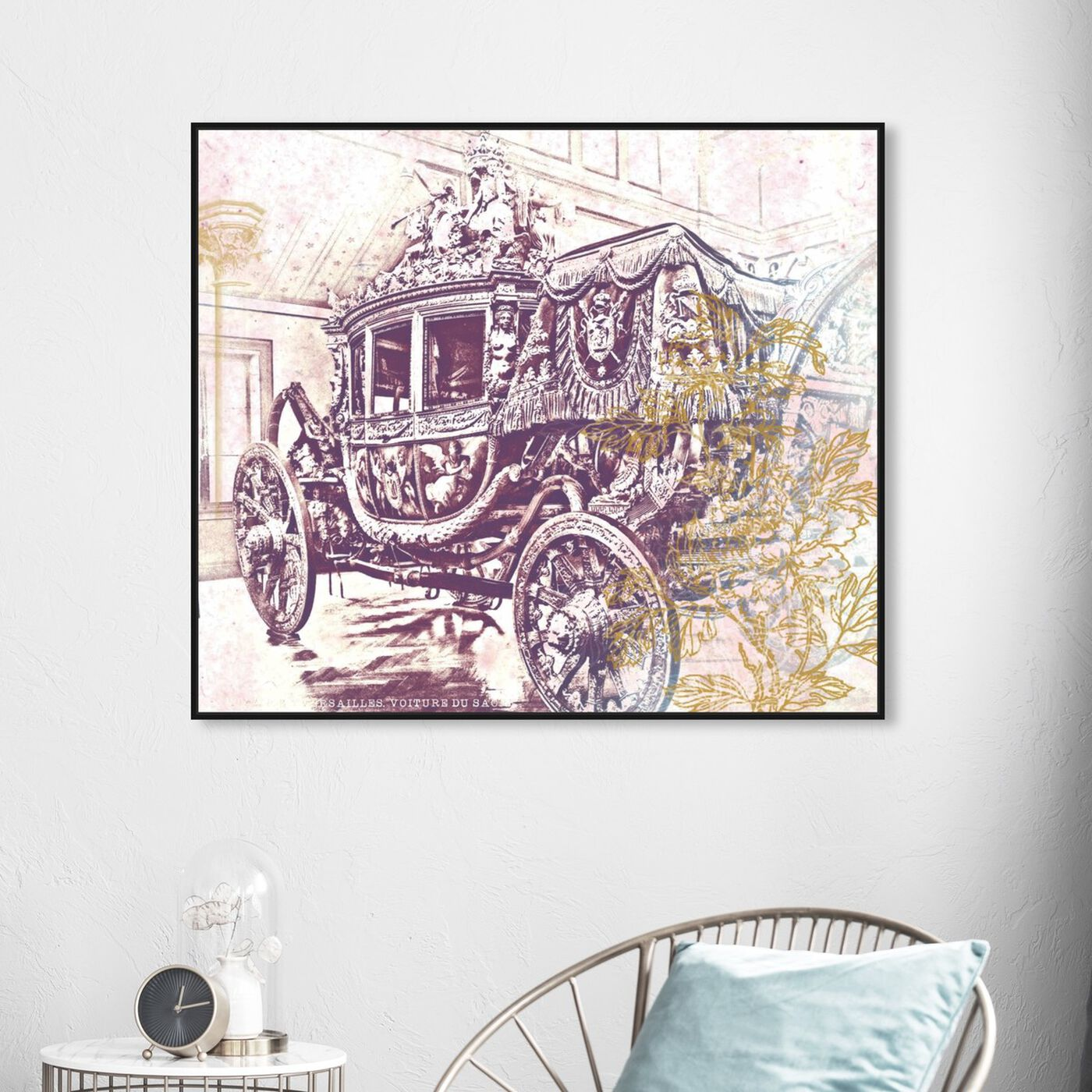 Hanging view of Charles X Carriage featuring classic and figurative and classic art.