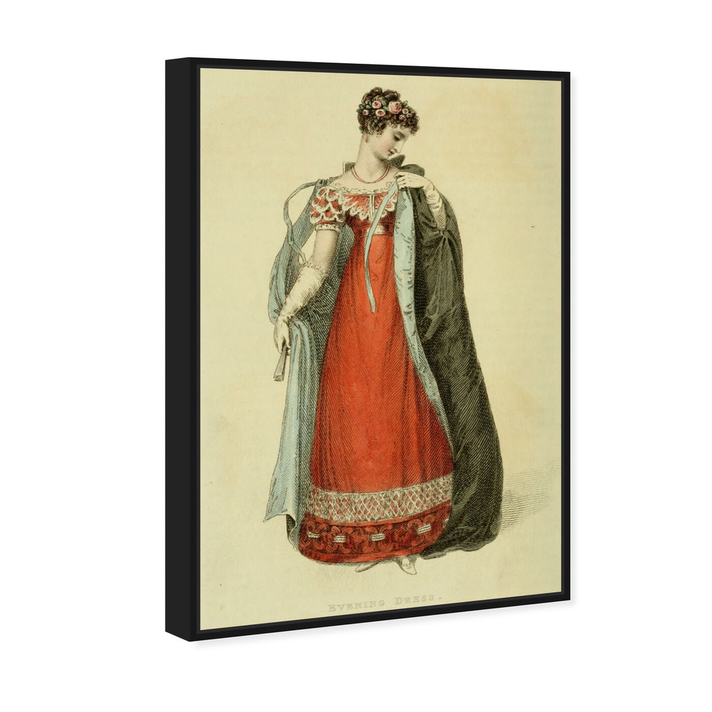 Angled view of Evening Dress - The Art Cabinet featuring classic and figurative and realism art.