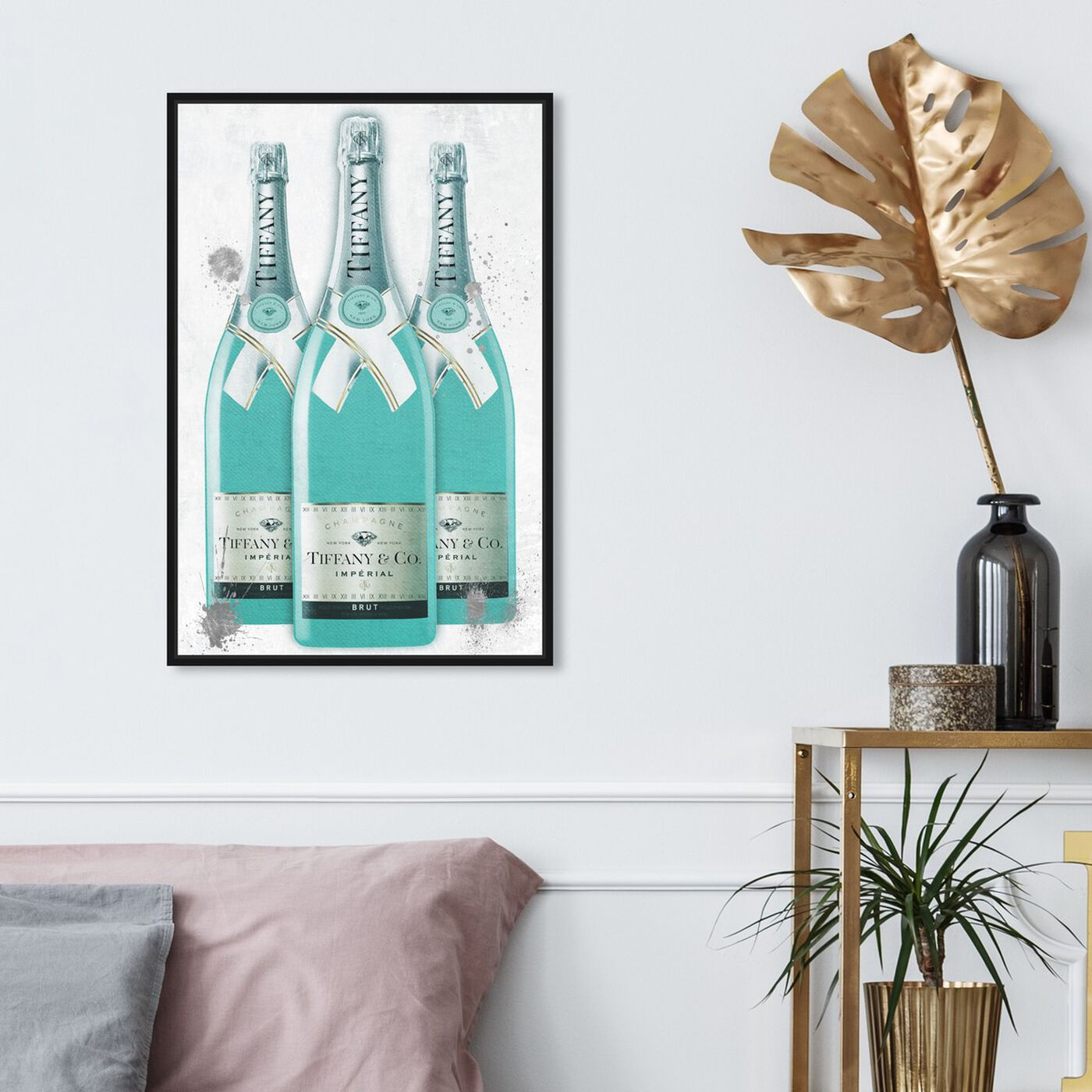 Hanging view of Diamonds and Bubbles Champagne featuring fashion and glam and lifestyle art.