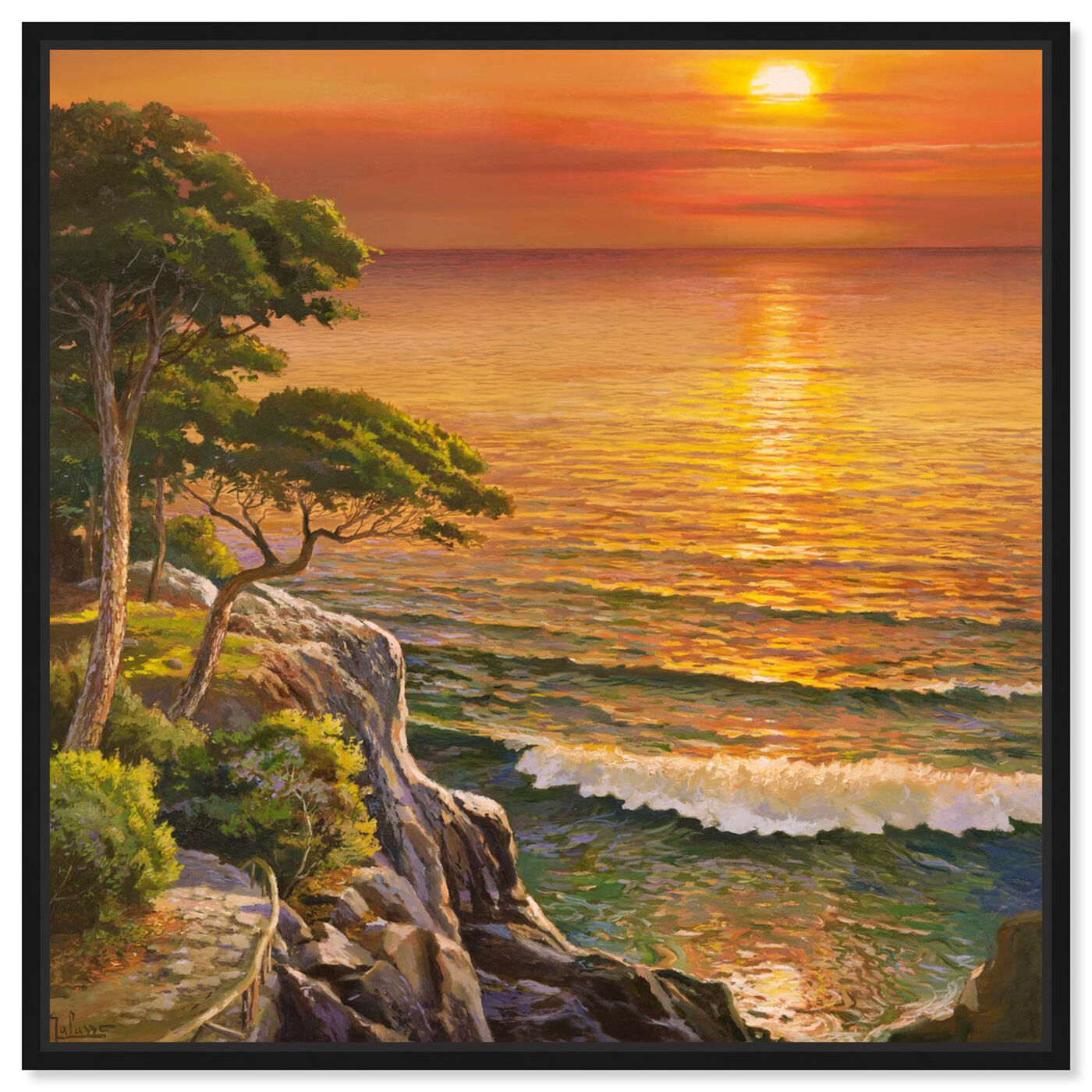 Front view of Sai - Sunset Visage 1AD2552 featuring nature and landscape and sunrise and sunsets art.