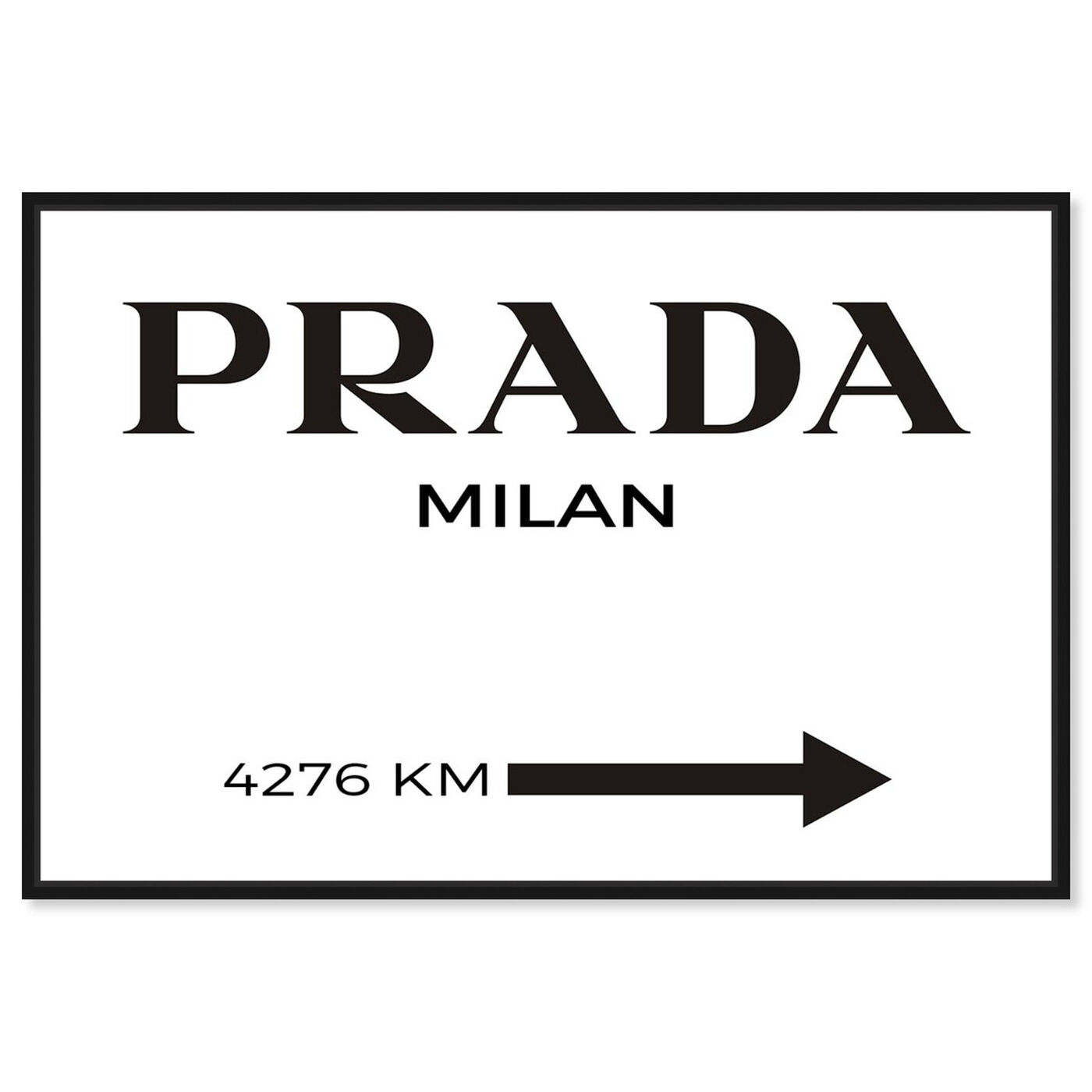 Front view of Milan Minimalist featuring fashion and glam and road signs art.