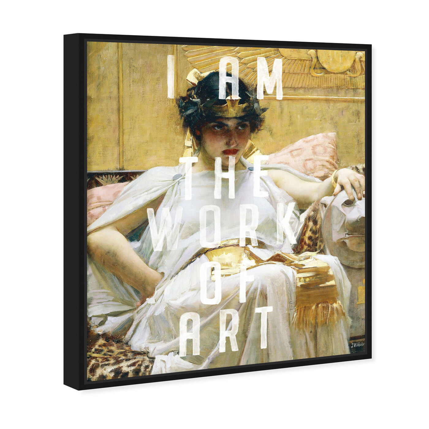 Angled view of I AM ART featuring classic and figurative and classic art.