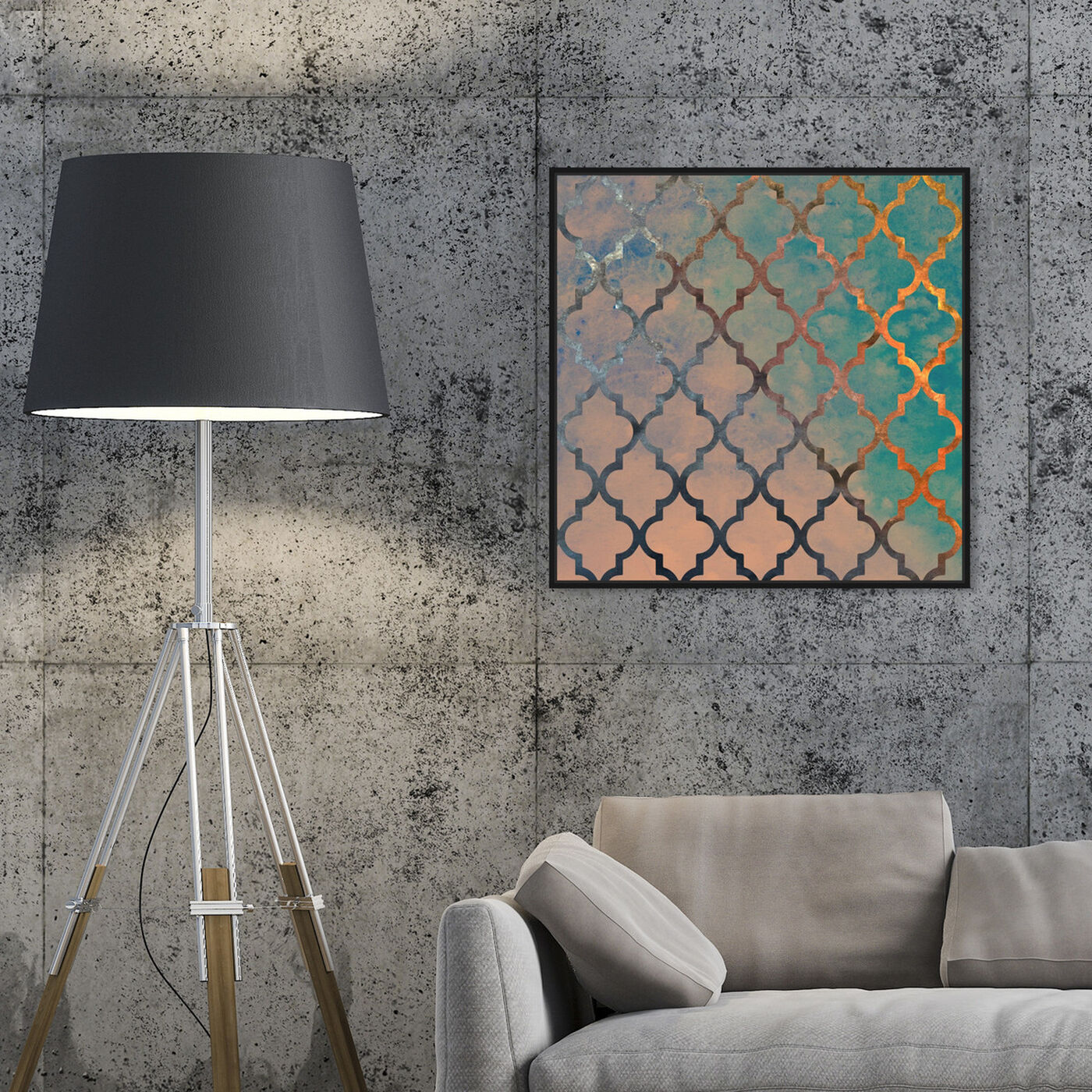 Hanging view of Amour Arabesque featuring abstract and patterns art.