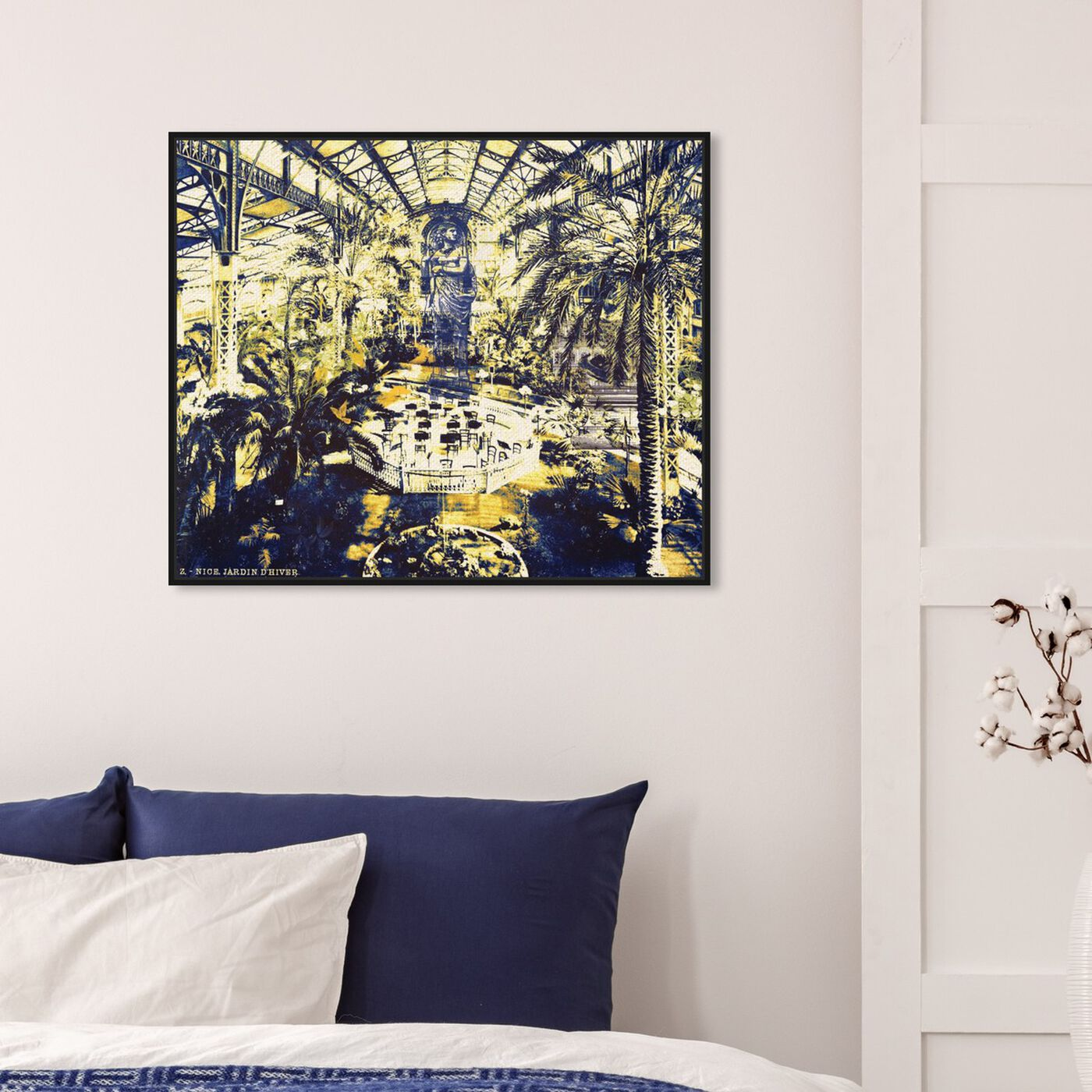 Hanging view of Jardin d'Hiver Nice featuring cities and skylines and european cities art.