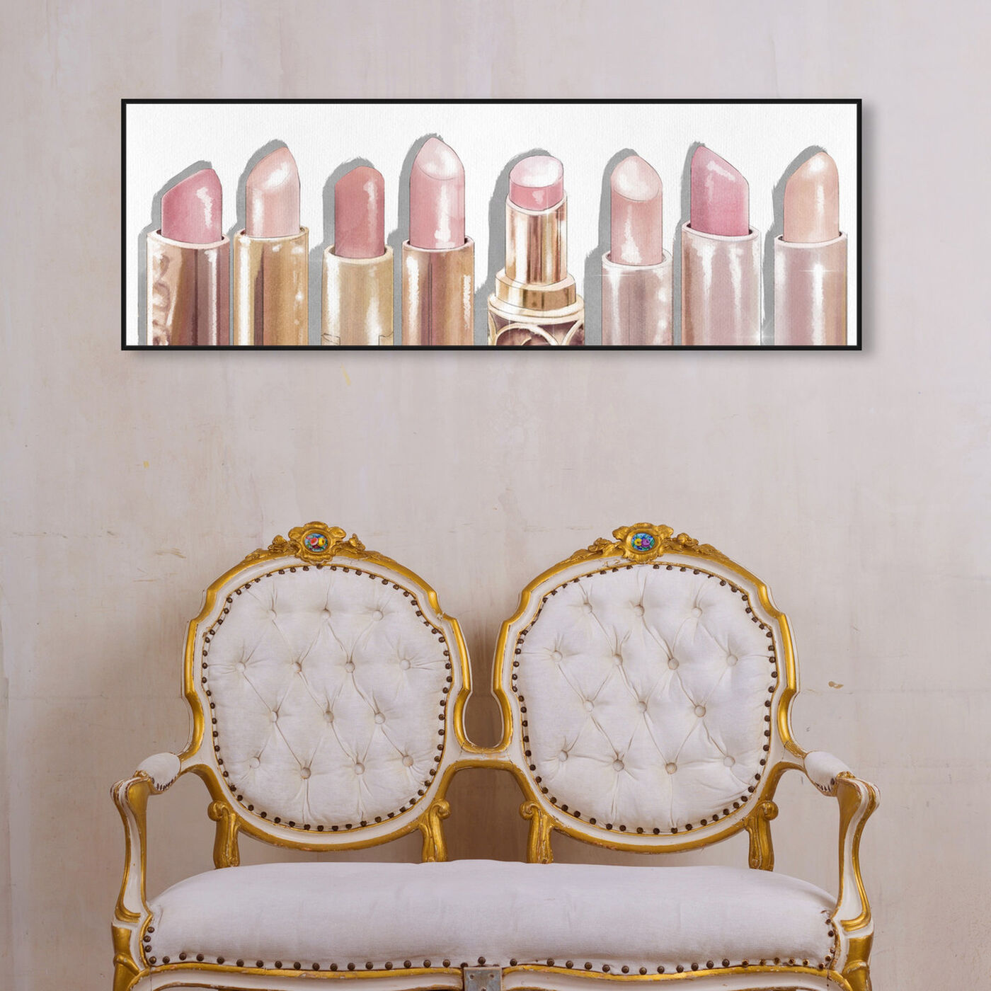 Hanging view of Lipstick Shades featuring fashion and glam and makeup art.