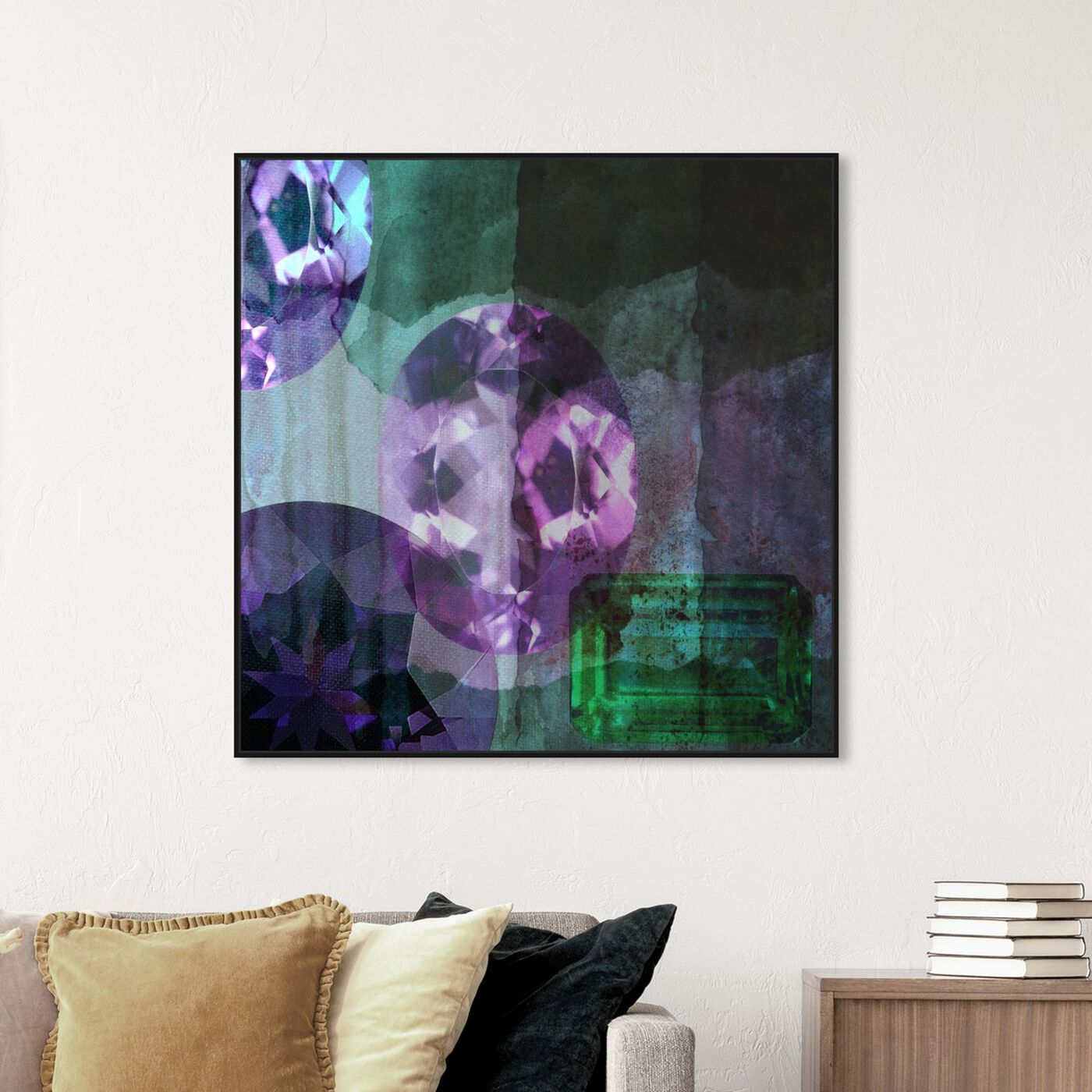 Hanging view of Texture Study III featuring abstract and crystals art.