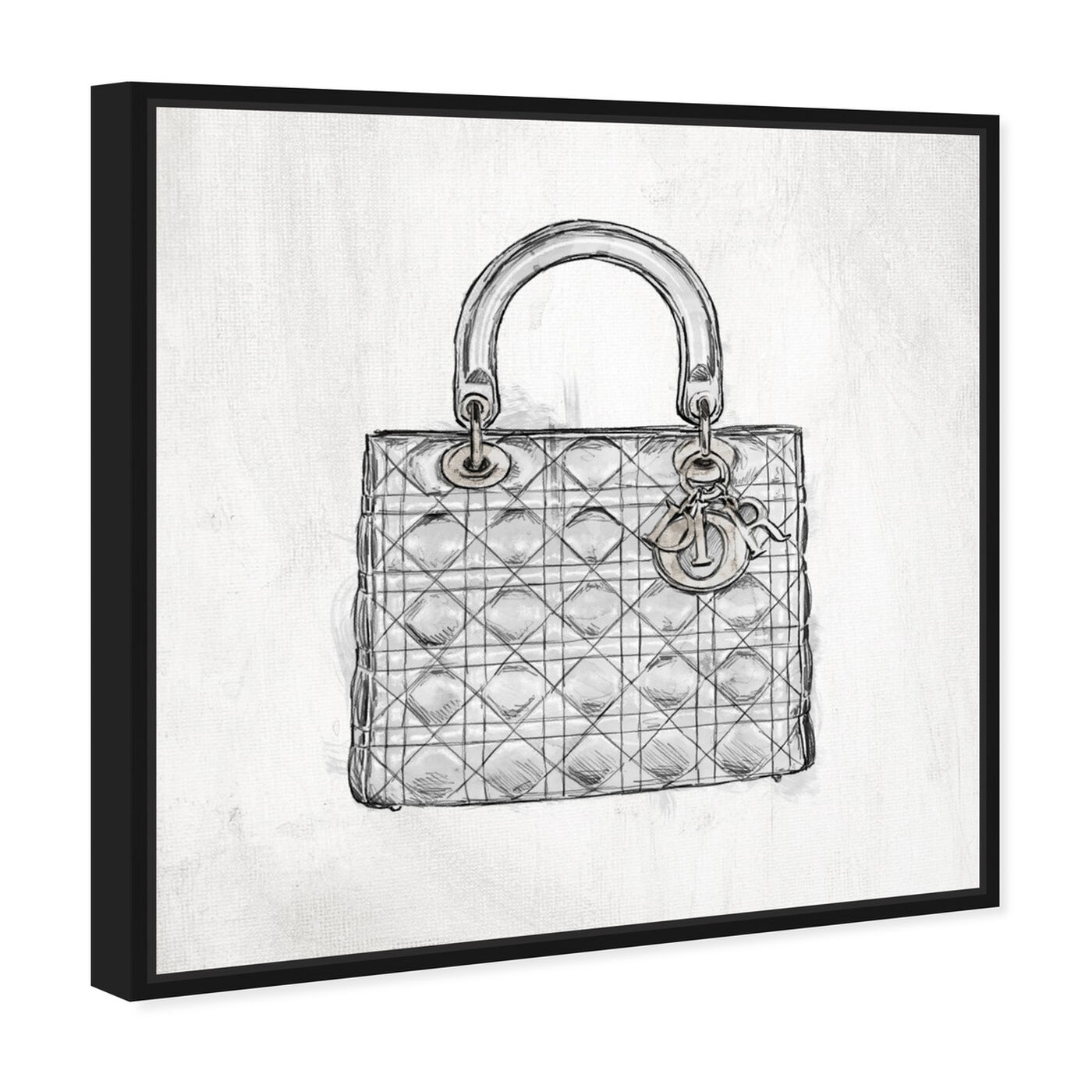 Angled view of Christian's Essentials White featuring fashion and glam and handbags art.