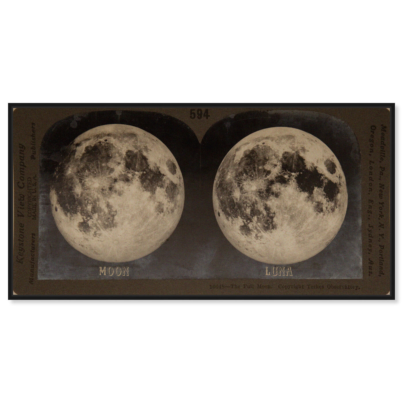 Front view of Full Moon featuring astronomy and space and moons art.
