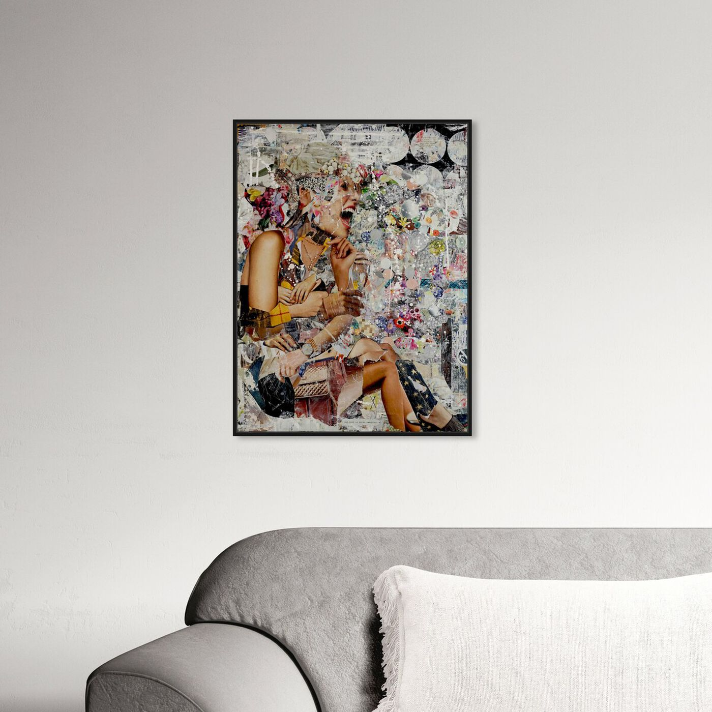 Hanging view of Katy Hirschfeld- Kilt Pearly Shout featuring fashion and glam and jewelry art.