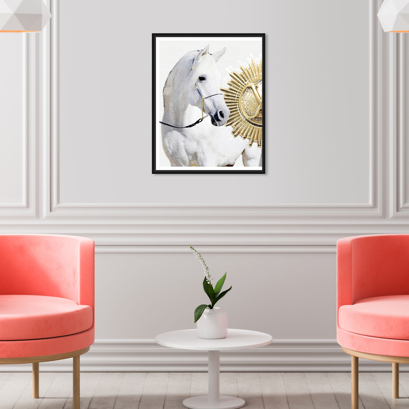Hanging view of Hail The Sun I featuring fashion and glam and travel essentials art.