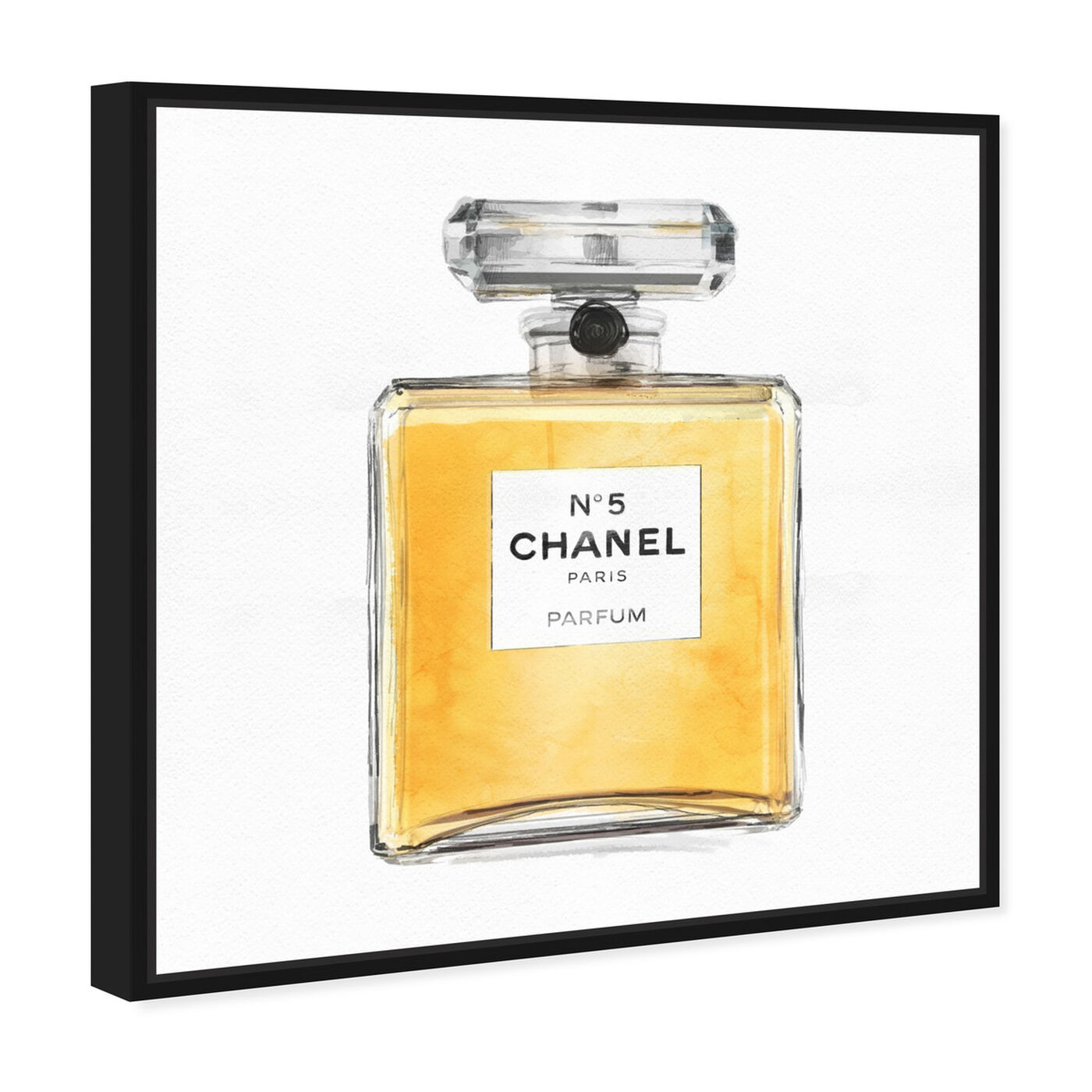 Angled view of Classic Number 5 I featuring fashion and glam and perfumes art.