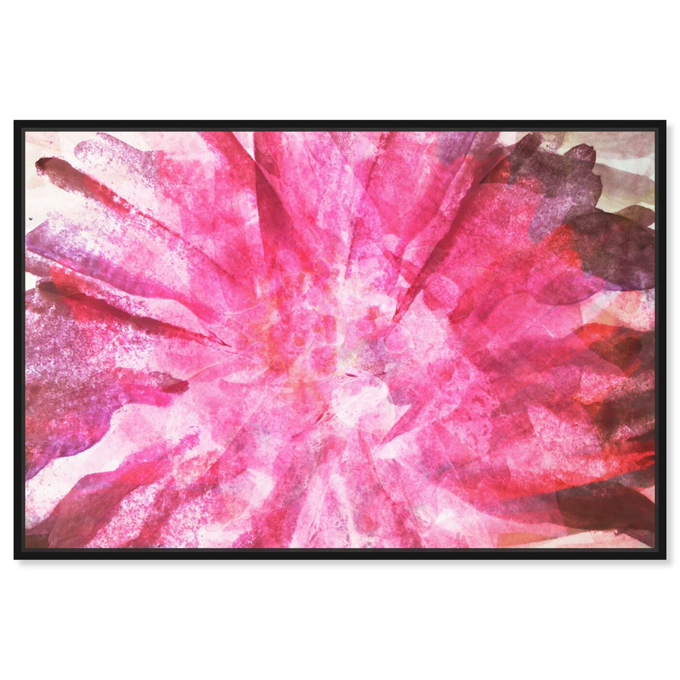 Front view of Nelumbo - Signature Collection featuring abstract and watercolor art.