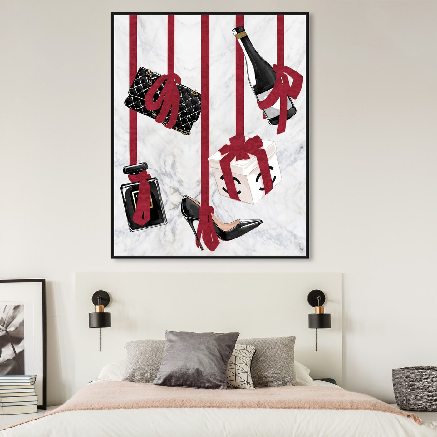 Hanging view of Hanging Essentials featuring fashion and glam and essentials art.