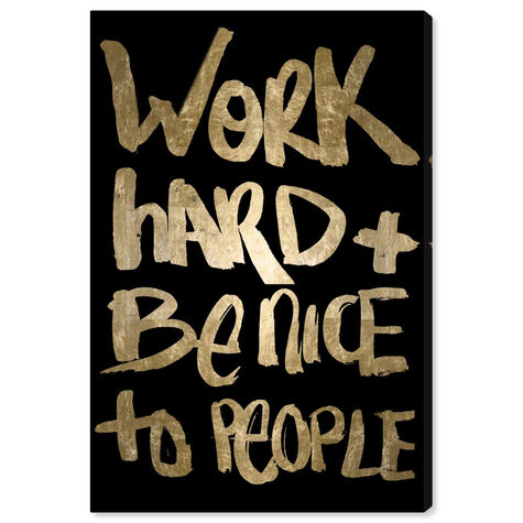 Work And Be Nice Black