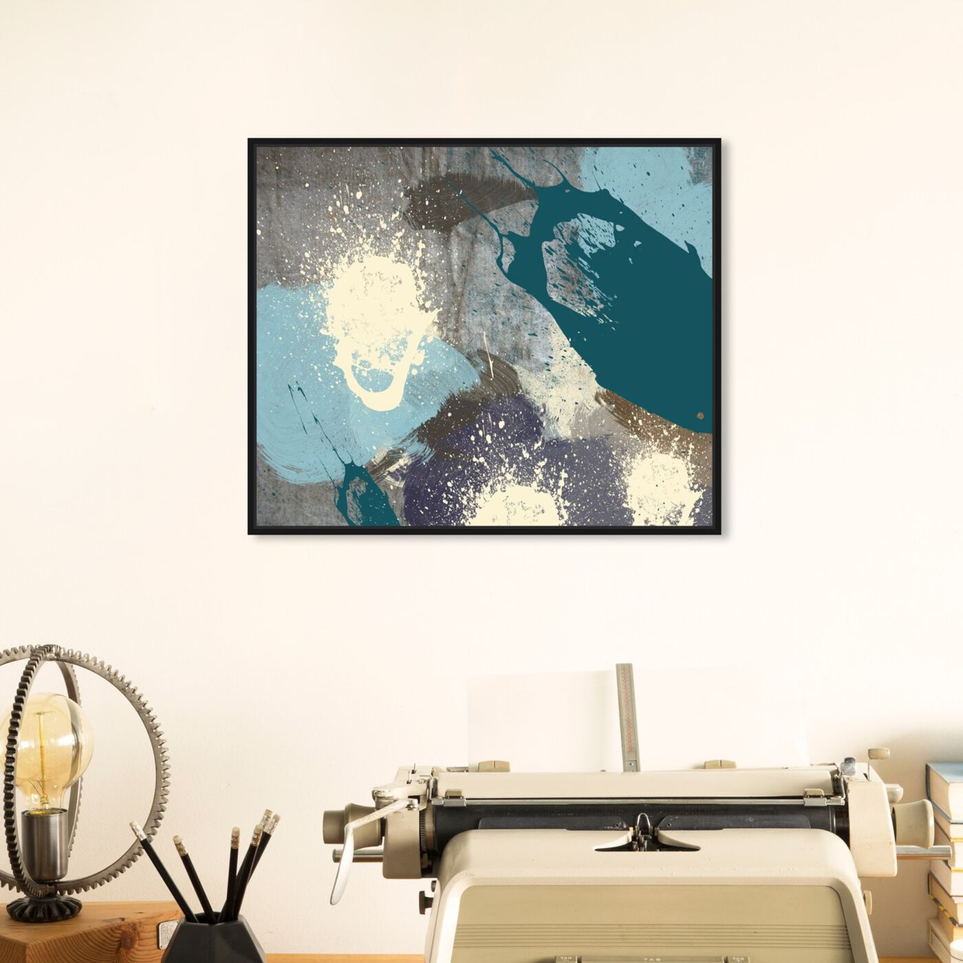 Hanging view of Storm featuring abstract and paint art.