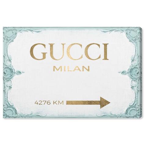 Milan Sign Aqua