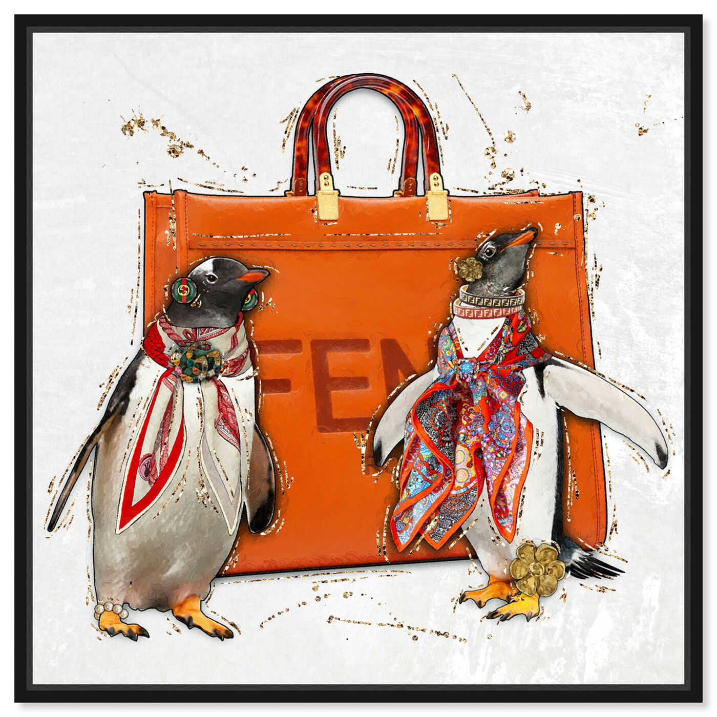 Front view of No More Suits featuring animals and birds art.