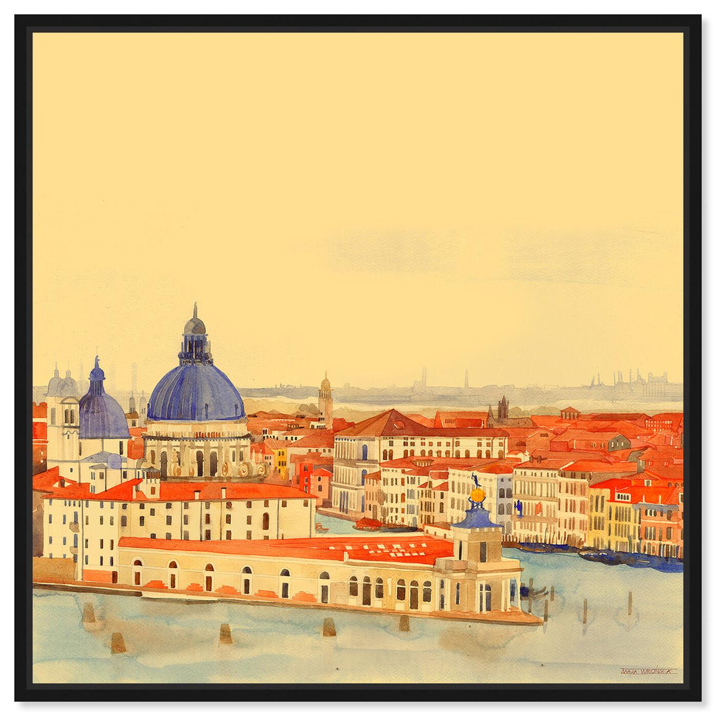 Front view of Maja Wronska - Waterfront Vista featuring nautical and coastal and coastal landscapes art.