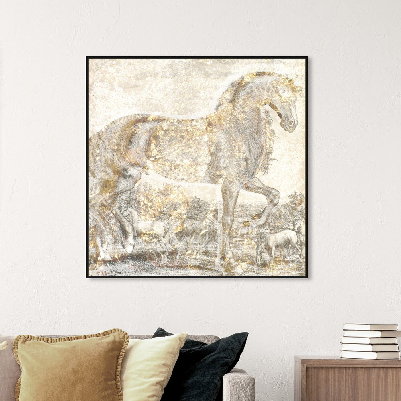 Hanging view of Brilliant Equestrian featuring animals and farm animals art.