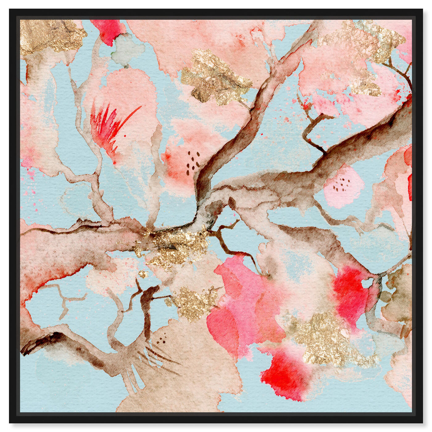 Front view of Under The Blossoms and Sky featuring floral and botanical and florals art.