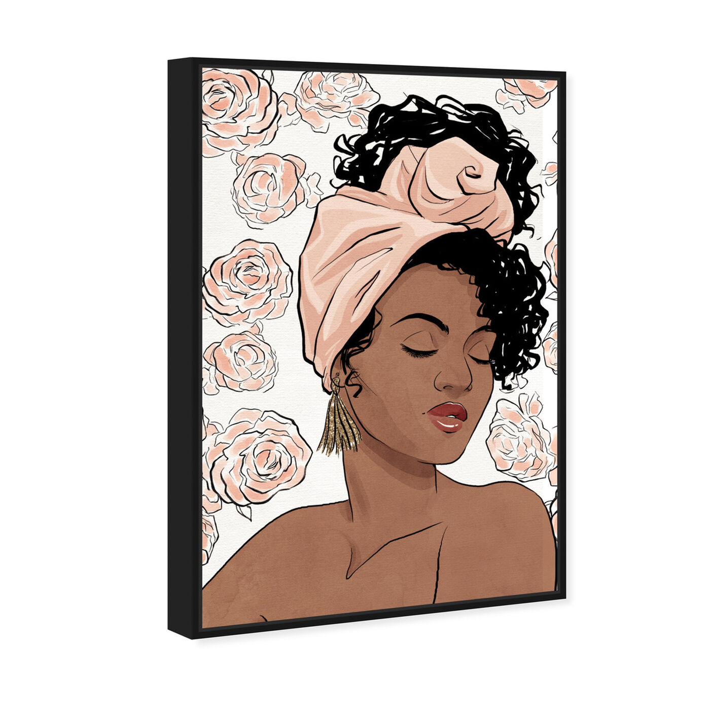Angled view of Flower Blush Girl featuring fashion and glam and portraits art.