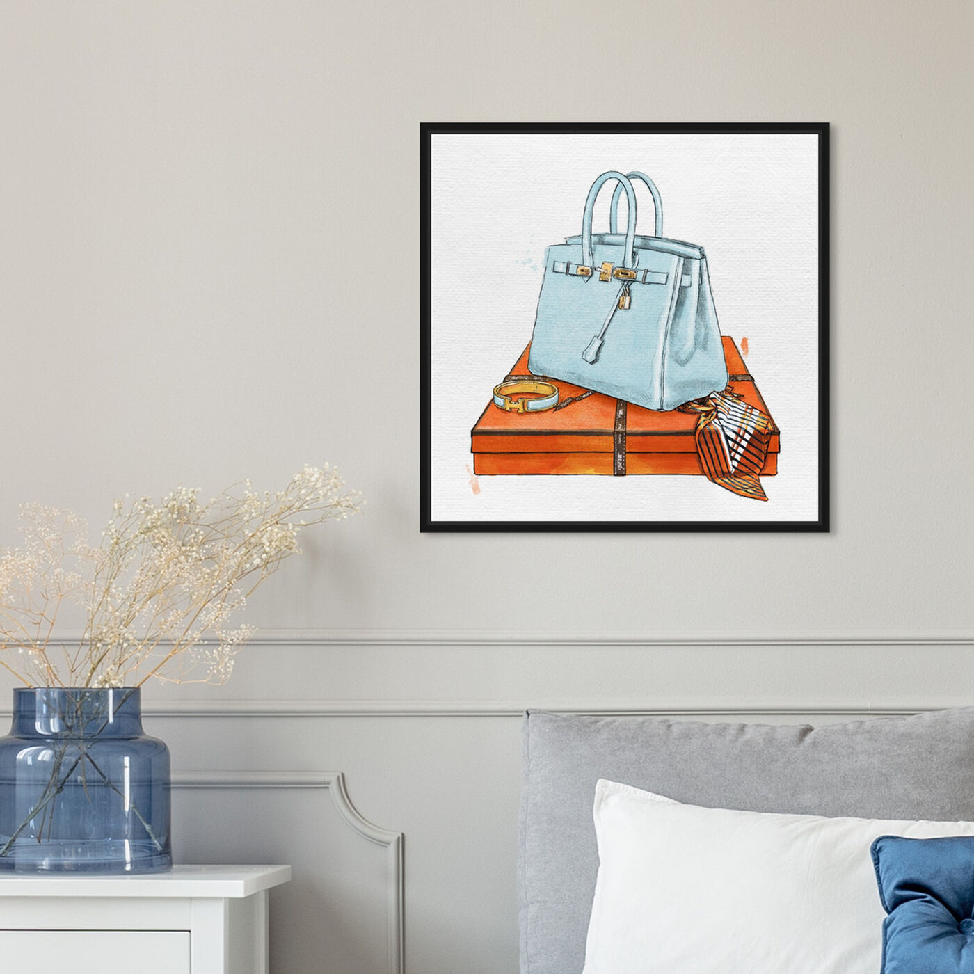 Hanging view of My Bag Collection I featuring fashion and glam and handbags art.