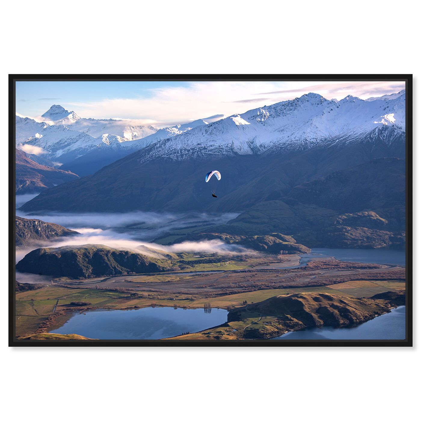 Front view of Curro Cardenal - Paragliding Free II featuring nature and landscape and mountains art.