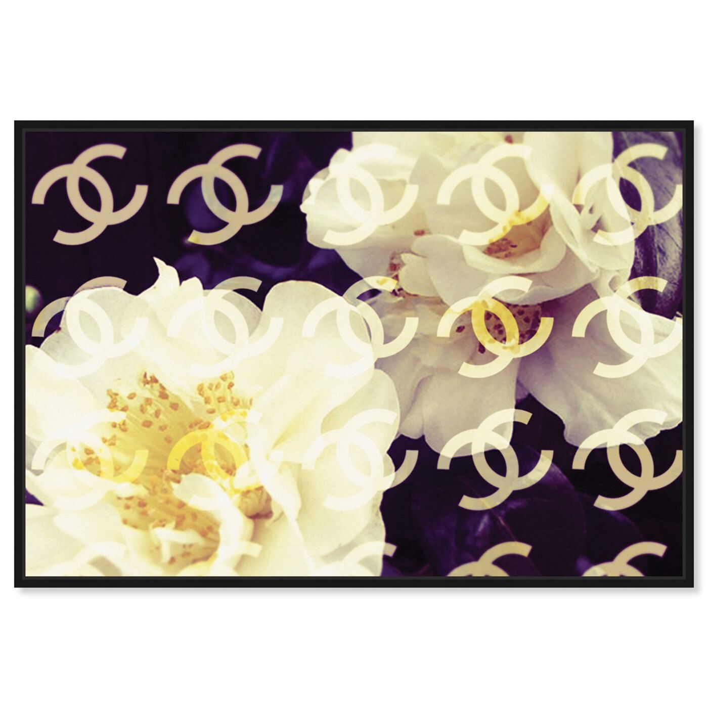 Front view of Coco's Camellia Vanilla featuring floral and botanical and florals art.