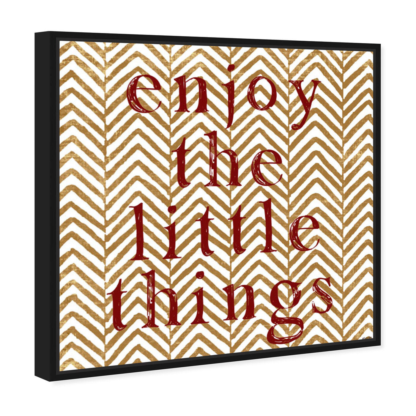 Angled view of Enjoy Marsala featuring typography and quotes and motivational quotes and sayings art.