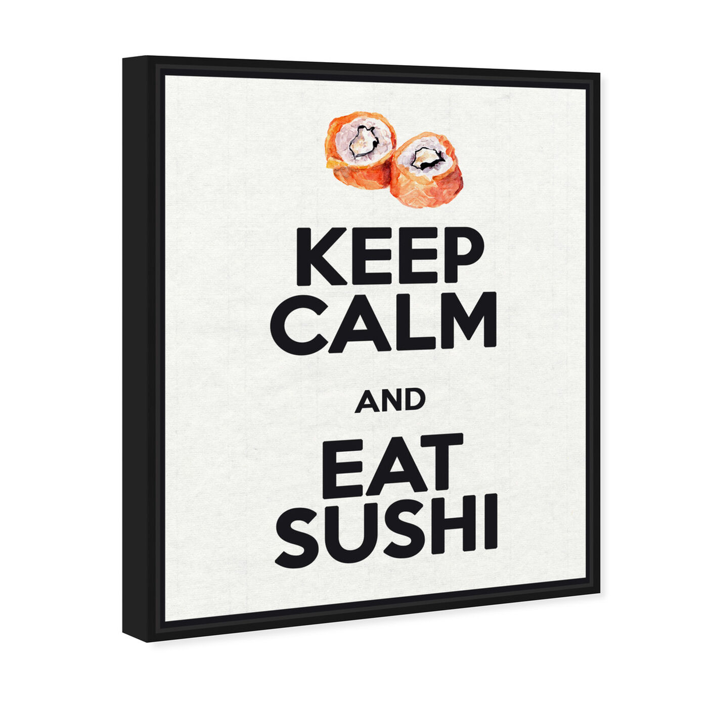 Angled view of Eat Sushi Rolls featuring food and cuisine and fast food art.
