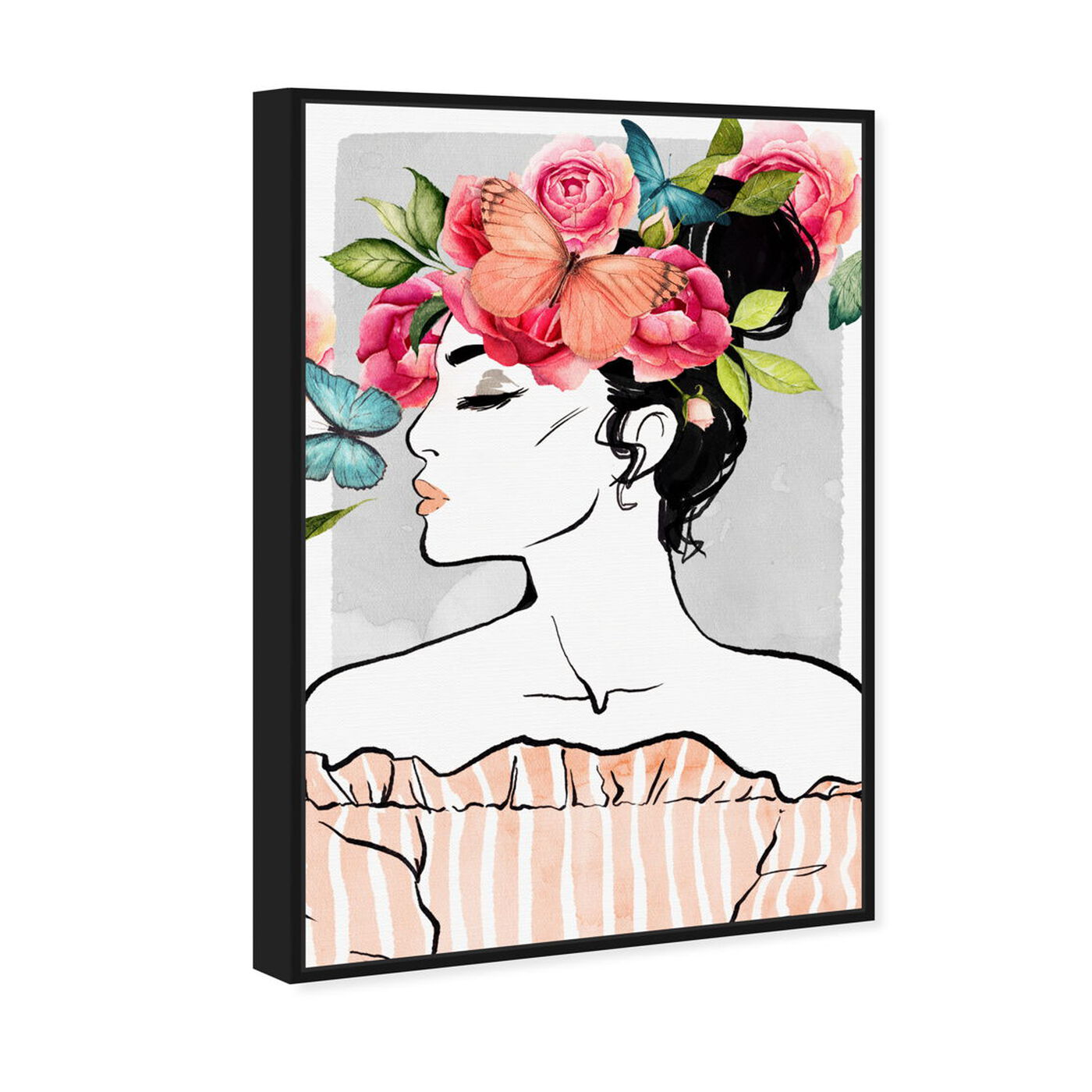 Angled view of Bye Bye Butterfly featuring fashion and glam and portraits art.