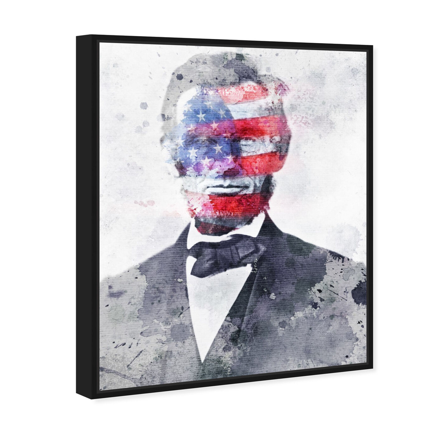 Angled view of Lincoln For America featuring americana and patriotic and us presidents art.