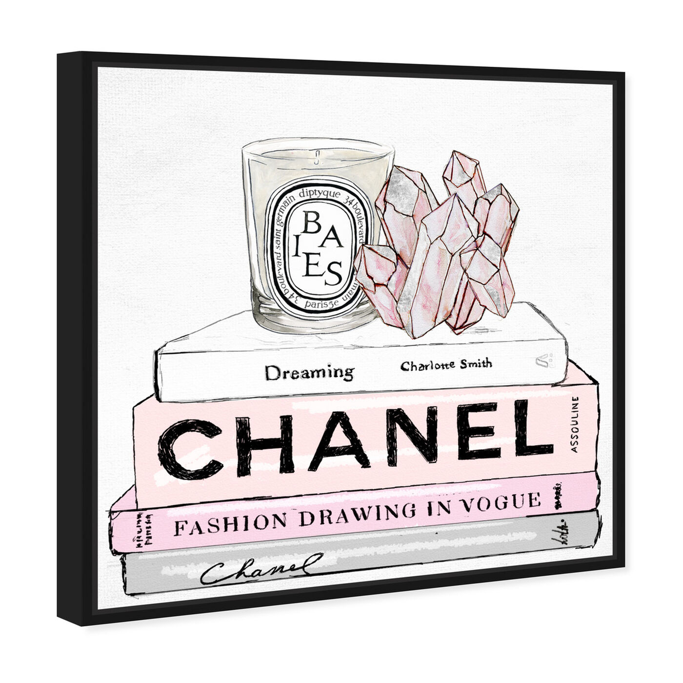 Angled view of Fashion Therapy featuring fashion and glam and books art.