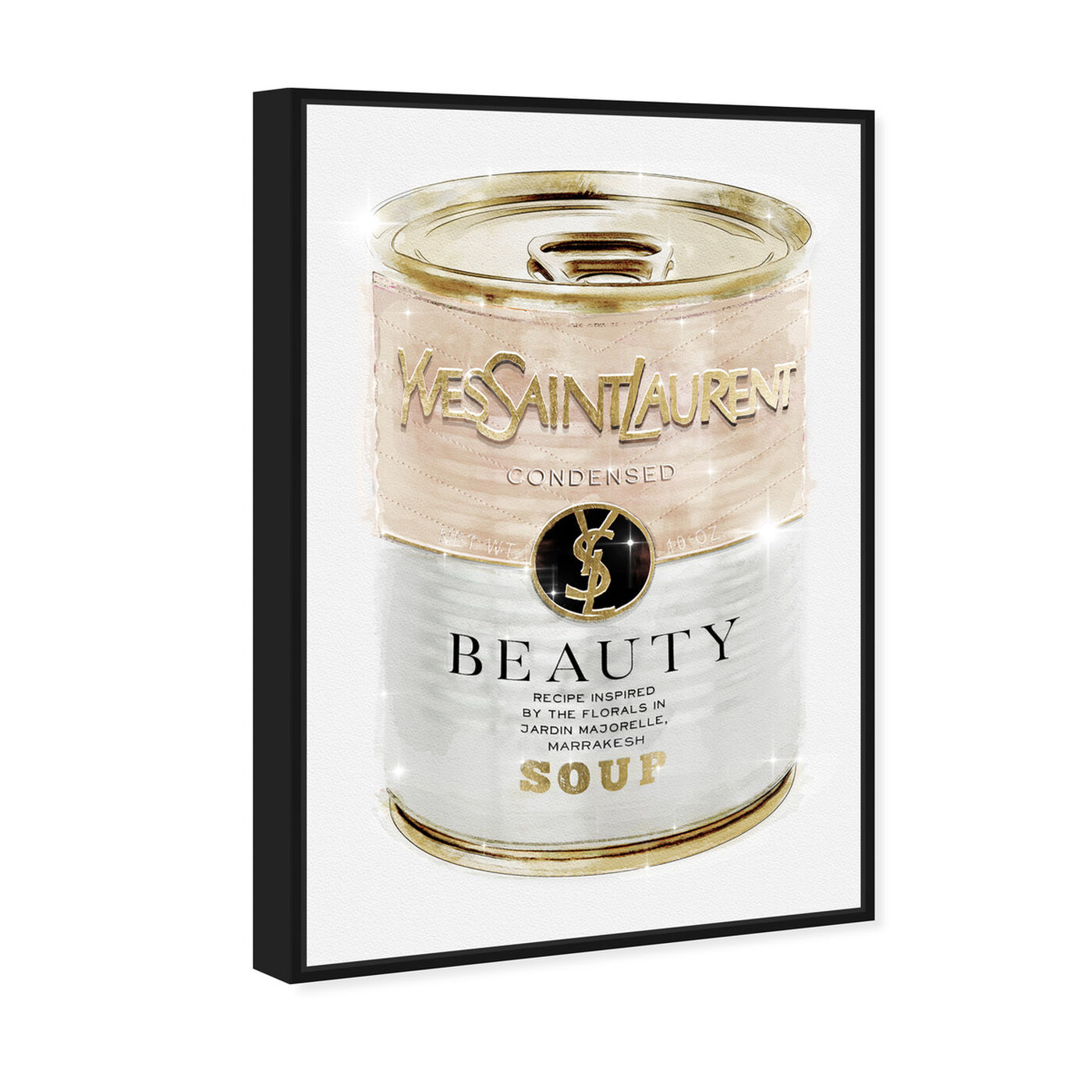 Angled view of Yves Beauty Soup Can Nude featuring fashion and glam and cans art.