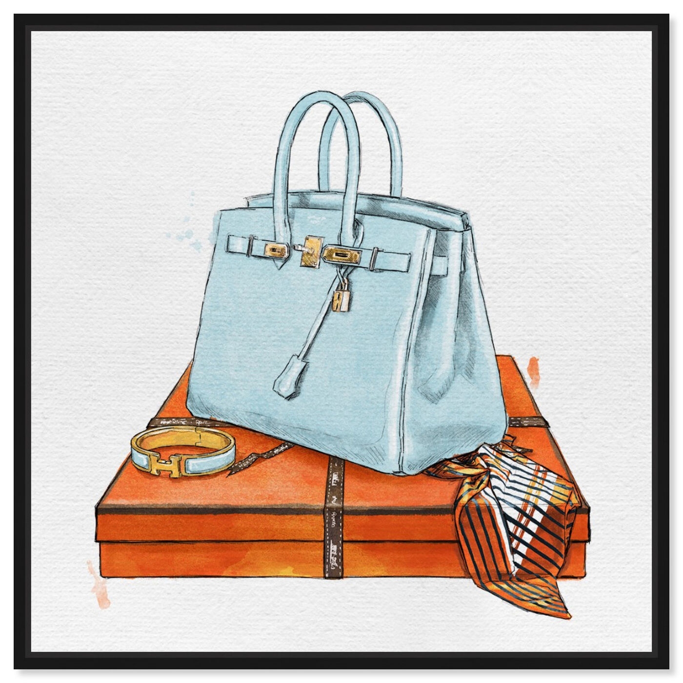 Front view of My Bag Collection I featuring fashion and glam and handbags art.