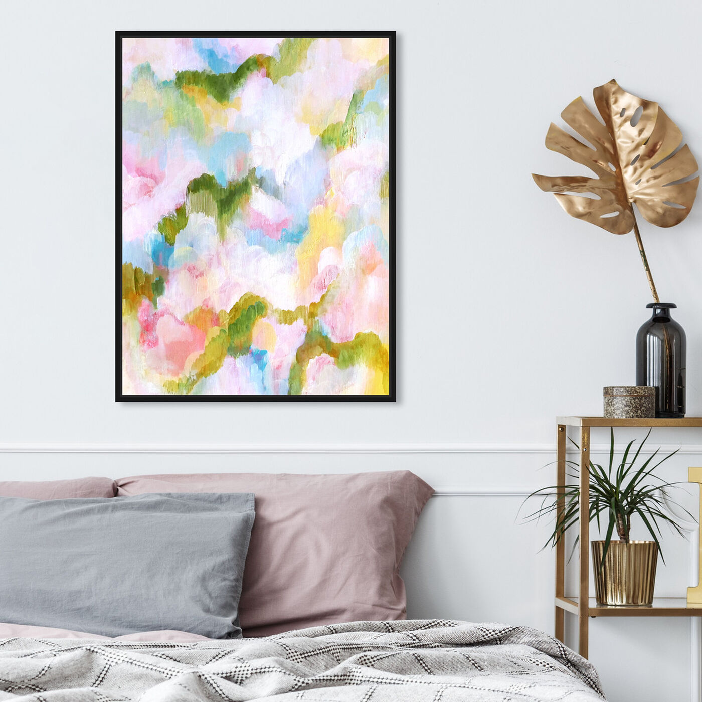 Hanging view of Garden of Hope V featuring abstract and paint art.