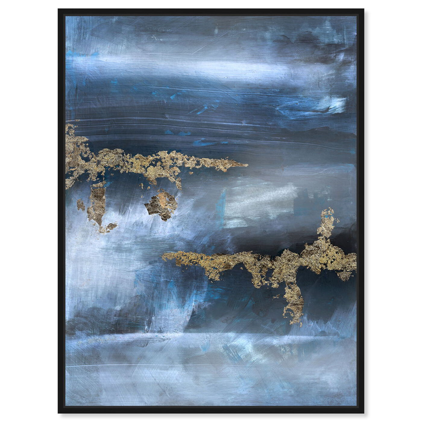 Front view of Golden blue featuring abstract and paint art.
