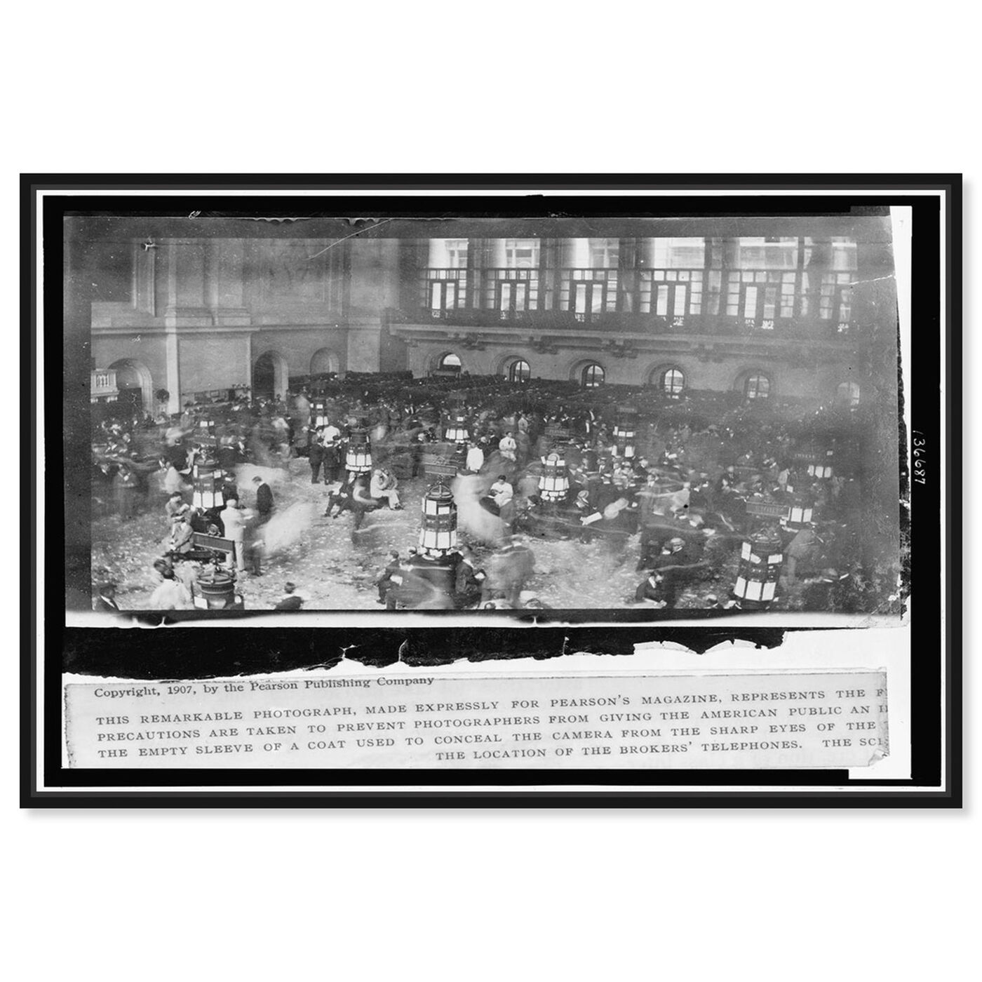 Front view of Stock Market Secret 1907 featuring people and portraits and united states buildings art.