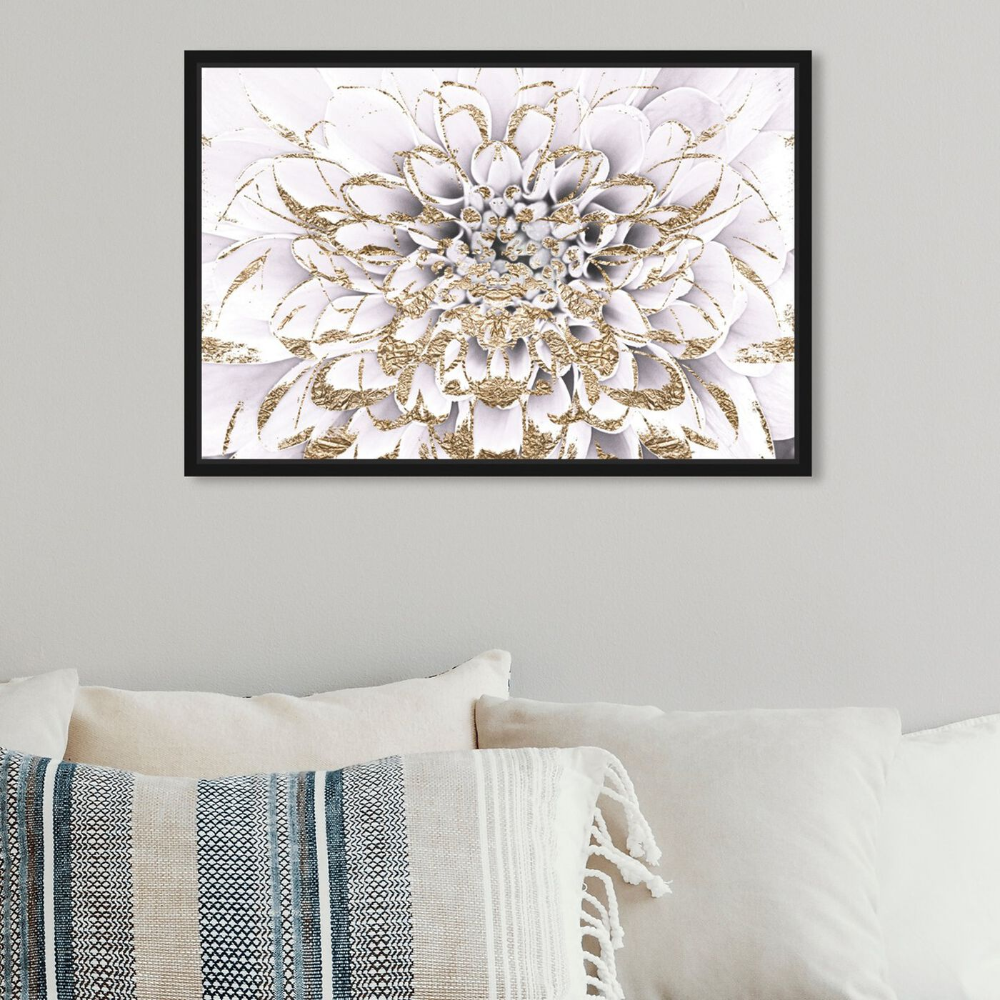 Hanging view of Floralia Blanc featuring floral and botanical and florals art.