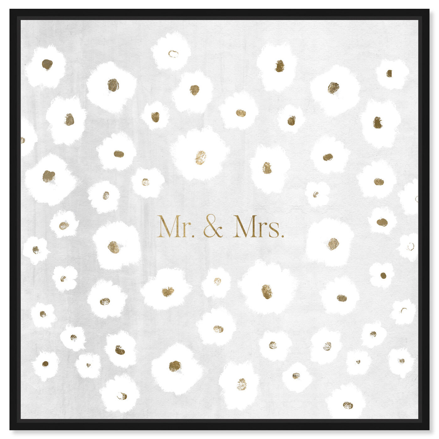 Front view of Mr and Mrs featuring typography and quotes and love quotes and sayings art.