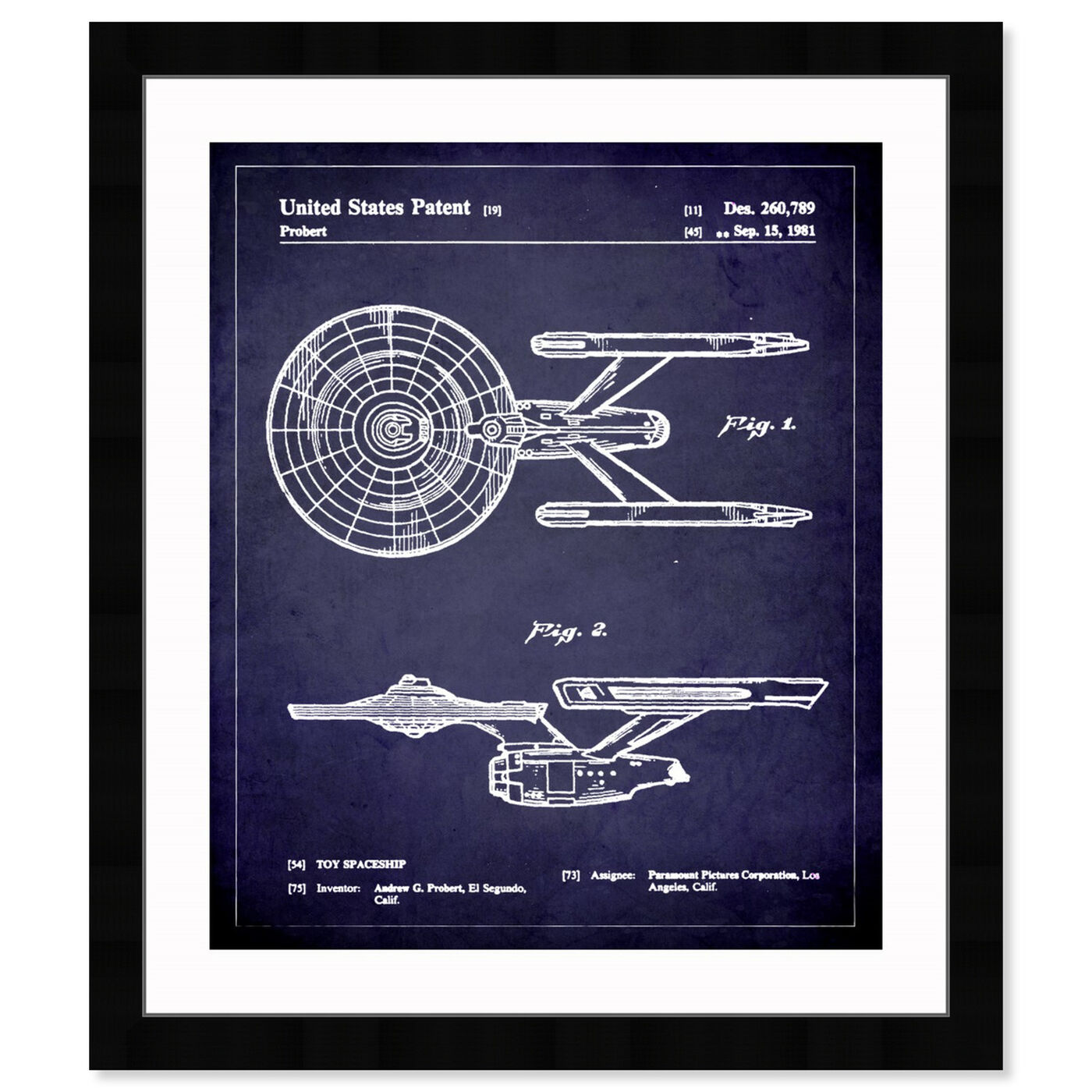 Front view of Enterprise 1981 II featuring movies and tv and movies art.